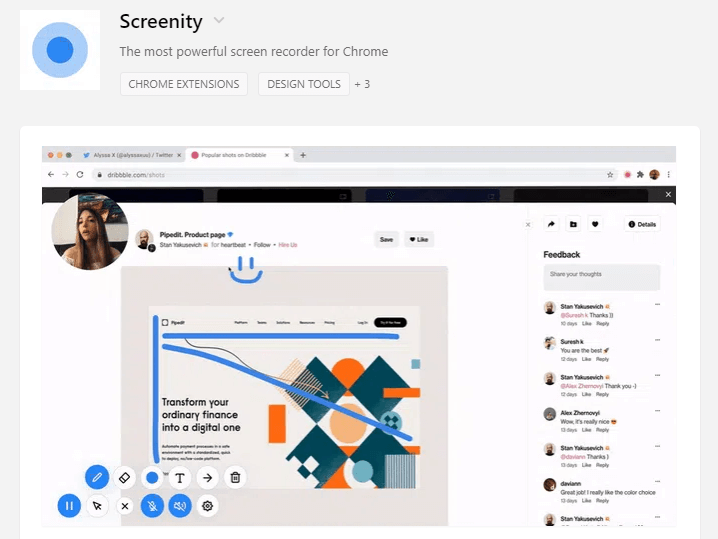 Screenity freebies