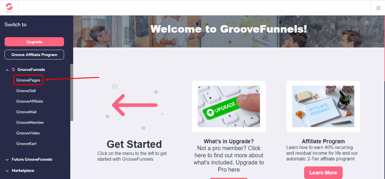 GrooveFunnels Home