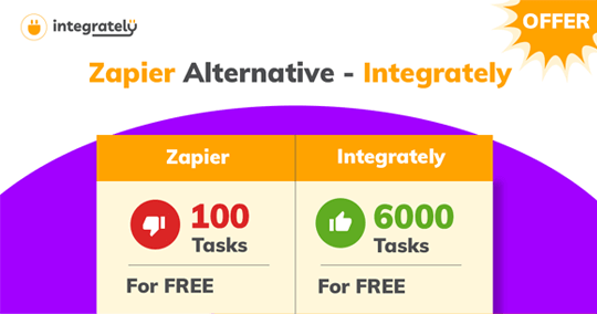 Integrately vs Zapier Free plan